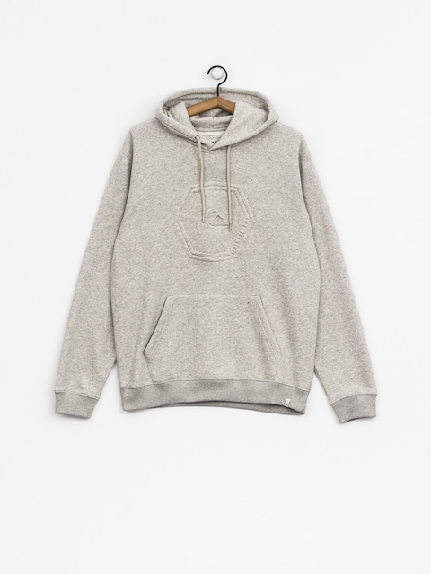 Mikina s kapucí Quiksilver Swell Emboss HD (light grey heather)