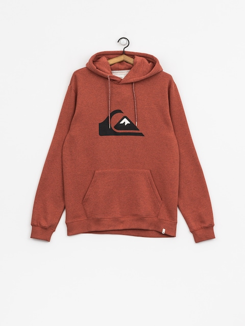 Mikina s kapucí Quiksilver Big Logo HD (barn red heather)