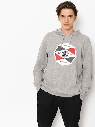 Mikina s kapucí Element Bisect HD (grey heather)