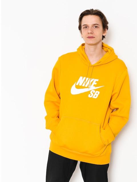 Mikina Nike SB Mikina s kapucíSb Icon HD (yellow ochre/white)