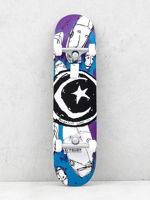 Skateboard Foundation Star And Moon Robot (multi)
