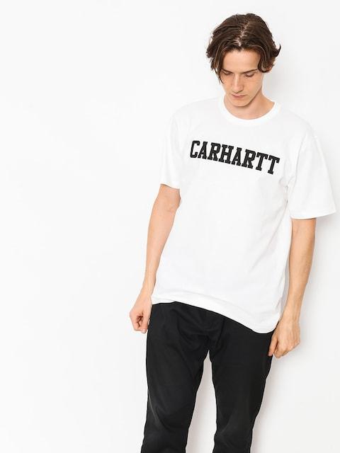 Tričko Carhartt WIP College (white/black)