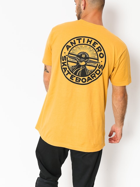 Tričko Antihero Stay Ready (mustard/black)