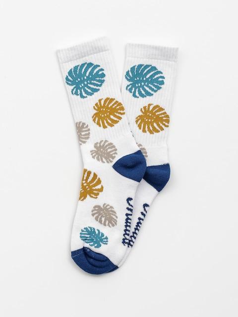 Ponožky Malita Leaves (white)