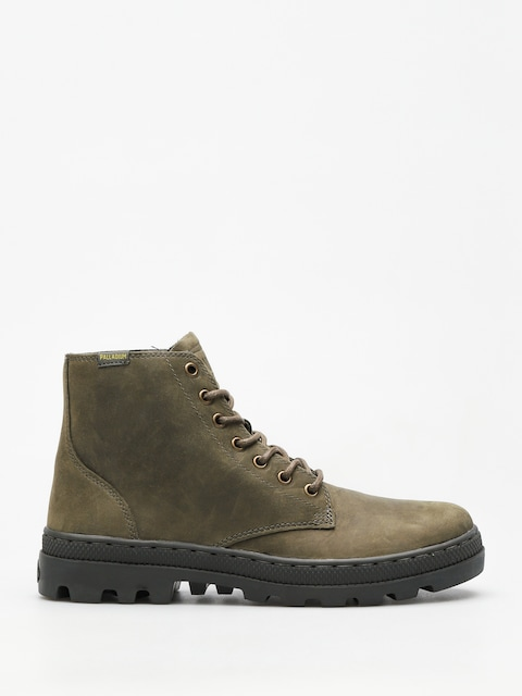 Boty Palladium Pallabosse Mid (olive night/beluga)