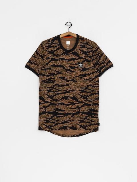 Tričko adidas Camo Aop (camo print/black/collegiate orange)