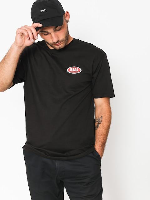 Tričko Real Small Oval (black/red)