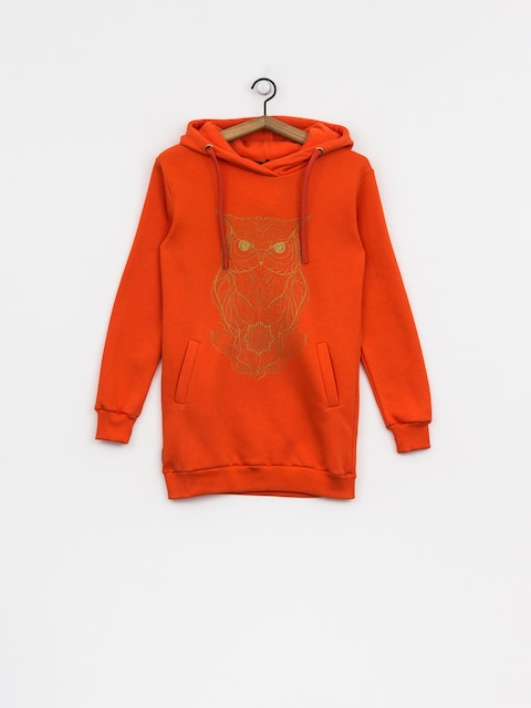 Mikina s kapucí Majesty Owl Lady HD Wmn (orange)