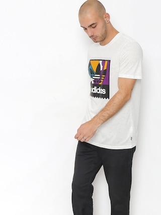Tričko adidas Cog Lgo (pale melange/tribe purple/real teal)