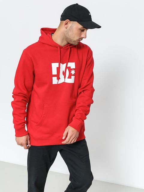 Mikina s kapucí DC Star HD (tango red)