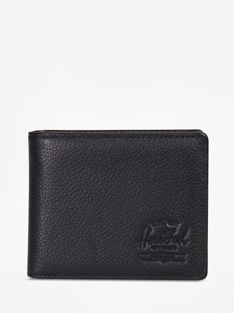 Peněženka Herschel Supply Co. Hank Coin Leather Rfid (black pebbled leather)