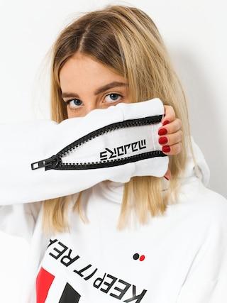 Mikina s kapucí Majors Kept HD (white)