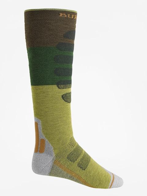 Ponožky Burton Performance + Midweight (mosstone block)