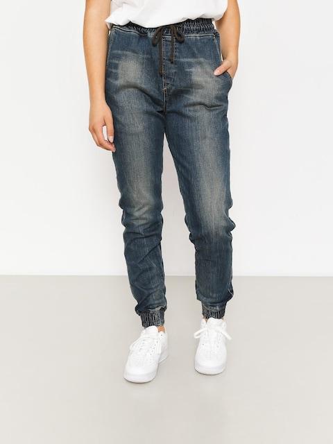 Kalhoty Diamante Wear Rm Jogger Wmn (paint jeans)