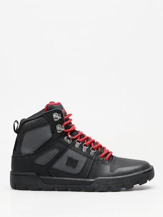 Zimnu00ed boty DC Pure High Top Wr Boot (black/grey/red)