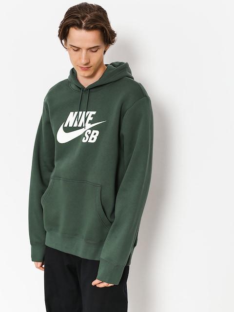 Mikina s kapucí Nike SB Sb Icon HD (midnight green/white)