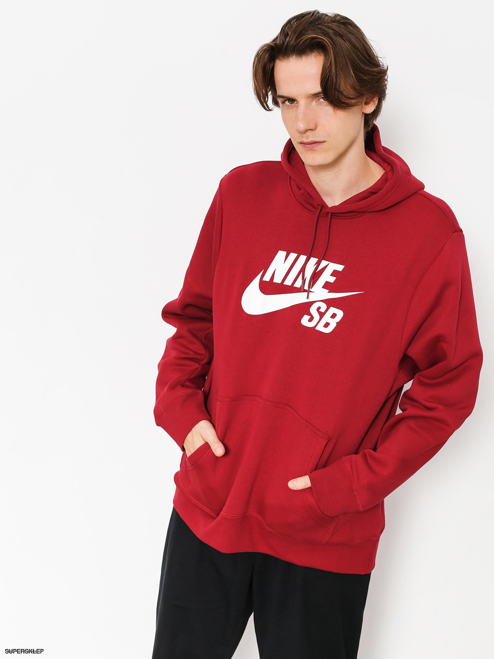 1495e65300b Mikina s kapucí Nike SB Sb Icon HD (red crush white)