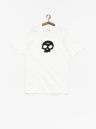 Tričko Zero Single Skull (white)