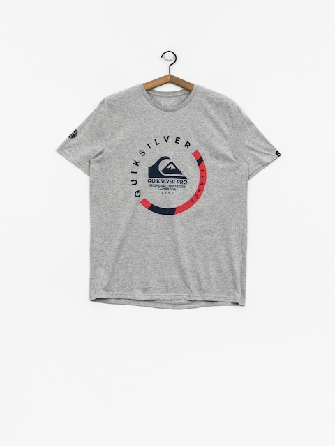 Tričko Quiksilver Quik Pro Frt 18 (light grey heather)