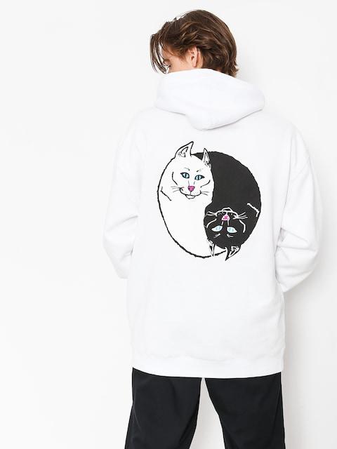 Mikina s kapucí RipNDip Nermal Yang HD (white)