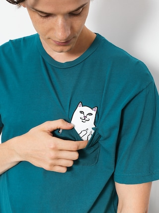 Tričko RipNDip Lord Nermal Pocket (aqua)