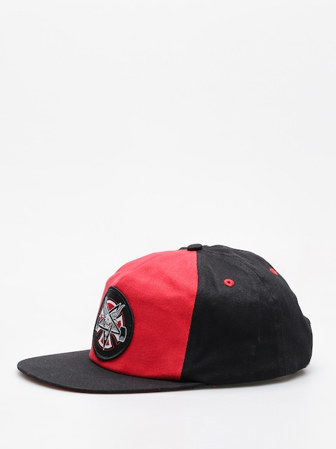Kšiltovka  Independent x Thrasher Pentagram Cross Adj Snapback ZD (cardinal/black)