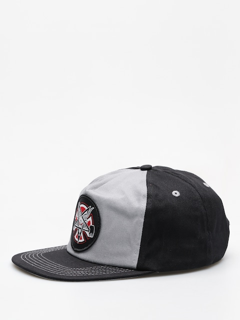 Kšiltovka  Independent x Thrasher Pentagram Cross Adj Snapback ZD (grey/black)