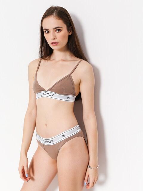 Spodní prádlo Stussy Basic Triangle Top Wmn (taupe)