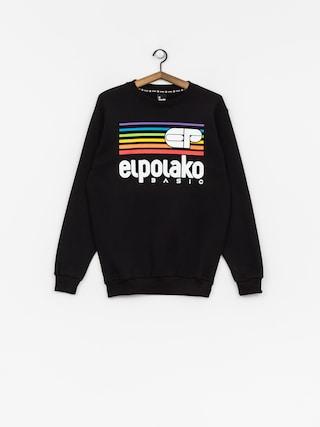 Mikina El Polako Rainbow (black)