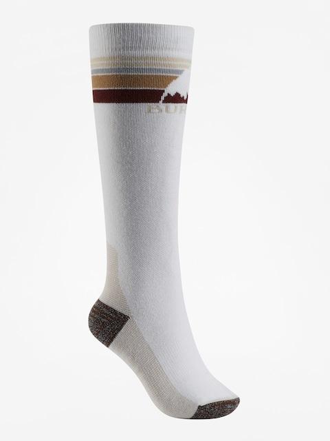 Ponožky Burton Emblem Midweight Wmn (stout white)
