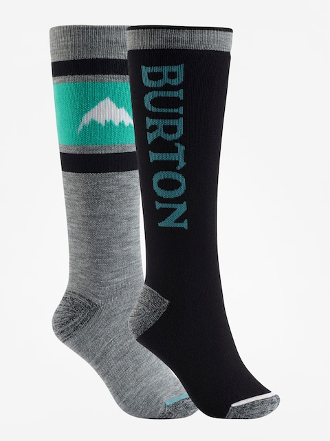 Ponožky Burton Weekend Midweight 2Pk Wmn (true black)