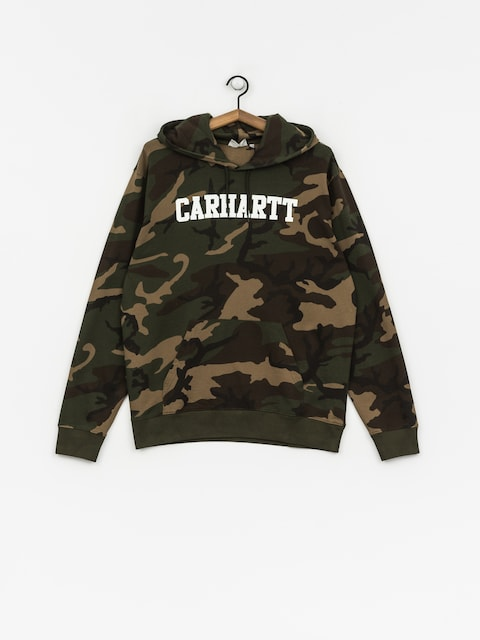 Mikina s kapucí Carhartt WIP College HD (camo laurel/white)