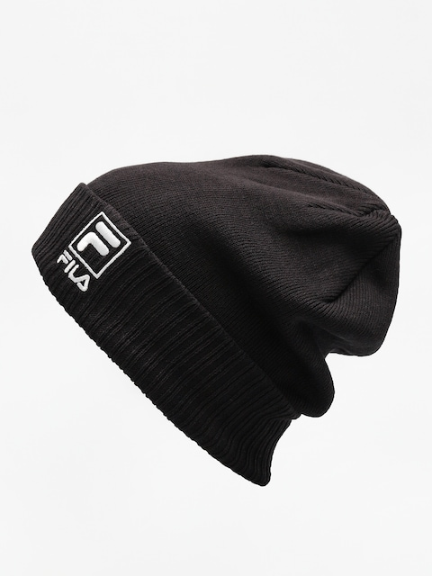 Čepice Fila Slouchy F Box Beanie (black)
