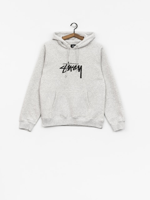 Mikina s kapucí Stussy Stock HD Wmn (ash heather)