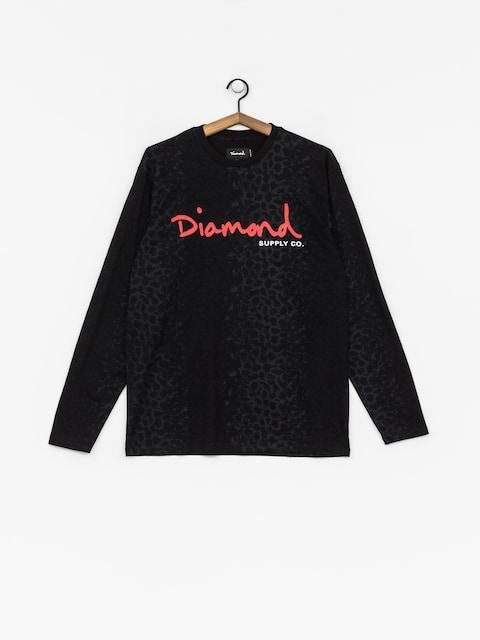 Triko Diamond Supply Co. Cheetah Canvas Ls (black)