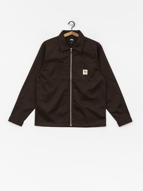 Košile Stussy Zip Up Work (brown)