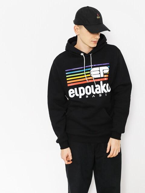 Mikina s kapucí El Polako Rainbow HD (black)