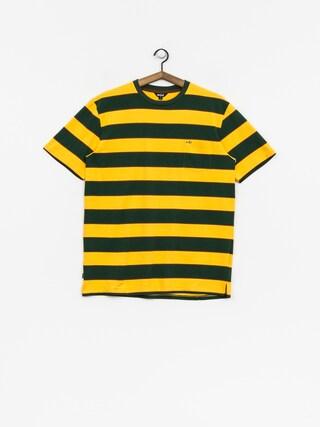 Tričko Enjoi Slappy Knit (fade gold/green/brown stripe)