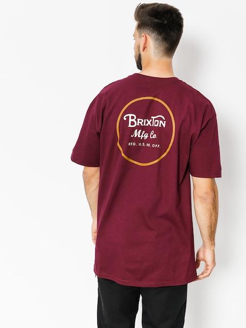Tričko Brixton Wheeler II Stnd (burgundy/gold)