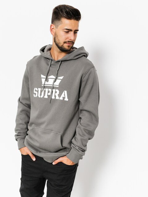 Mikina s kapucí Supra Above HD (charcoal/white white)