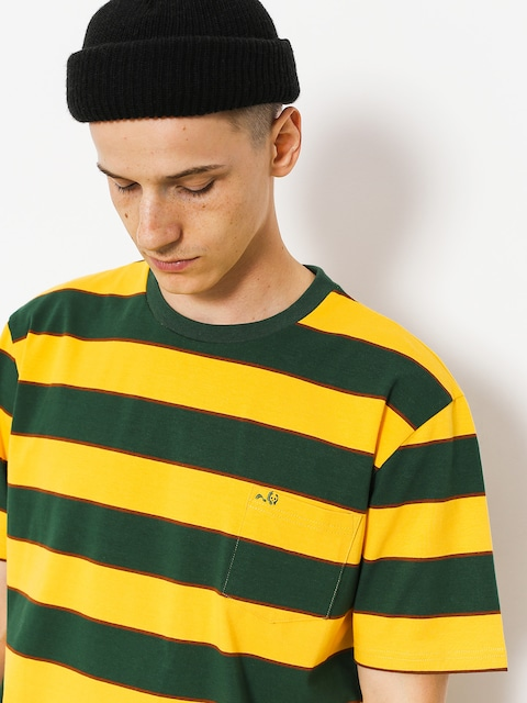 Tričko Enjoi Slappy Knit (fade gold/green/brown stripe)