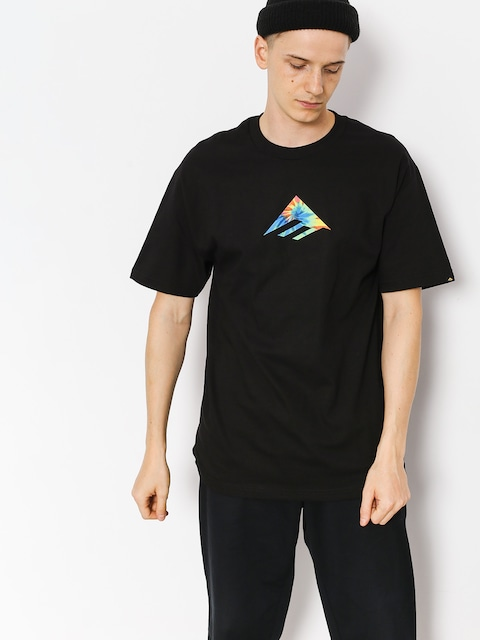 Tričko Emerica Triangle (black/print)