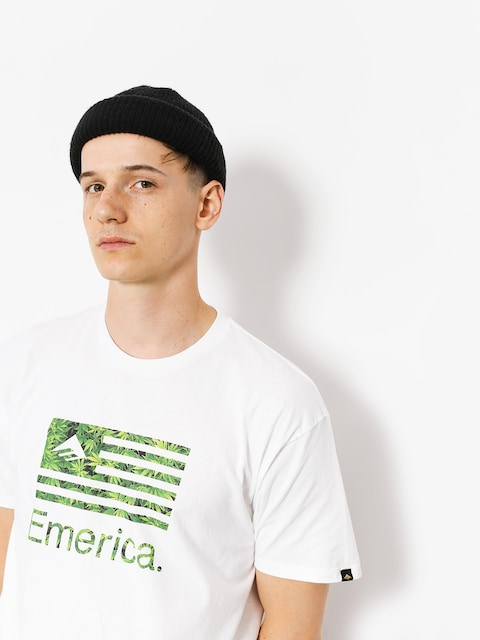 Tričko Emerica Pure Flag (white/green)