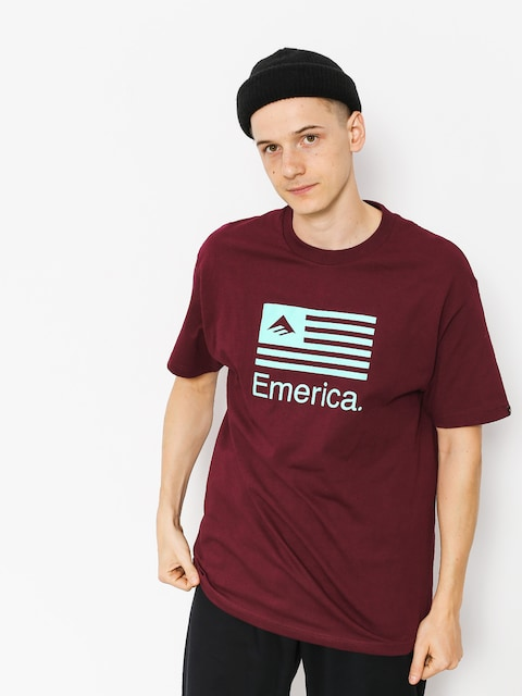 Tričko Emerica Pure Flag (burgundy)