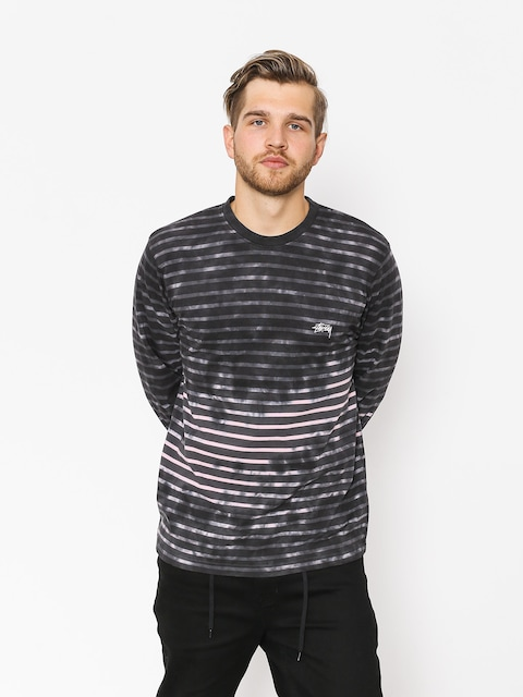 Triko Stussy Bleach Stripe (charcoal)