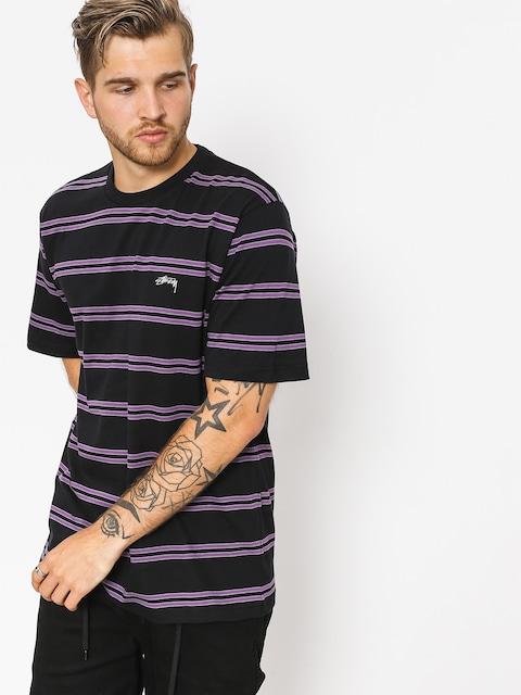 Tričko Stussy Double Stripe (black)