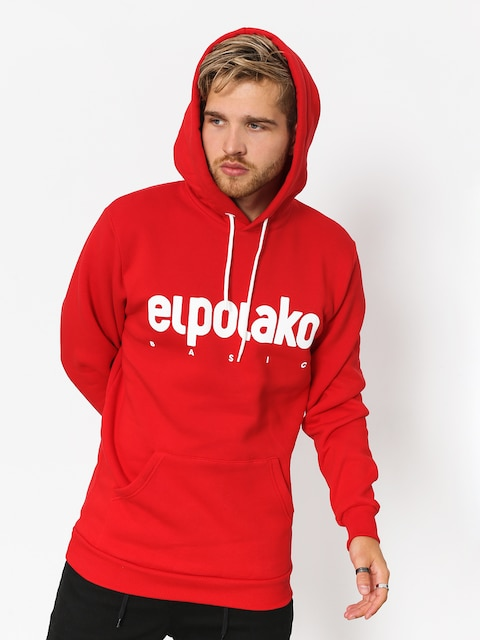 Mikina s kapucí El Polako Classic HD (red)