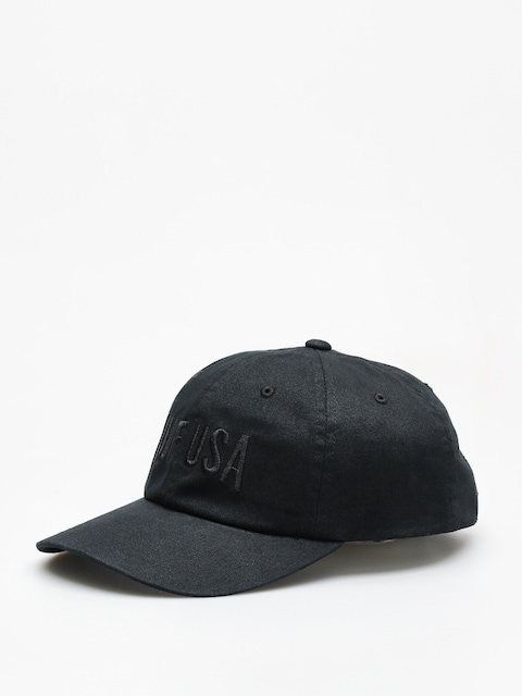Kšiltovka  HUF Team Curved Visor 6 Pannel ZD (black)