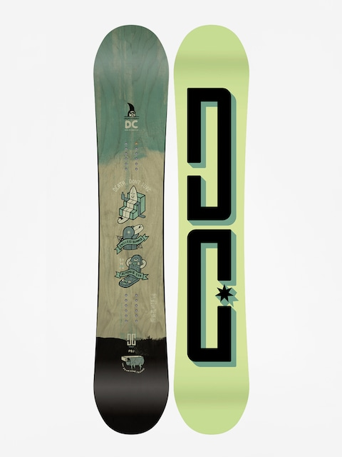 Snowboard DC Pbj (lime/black)