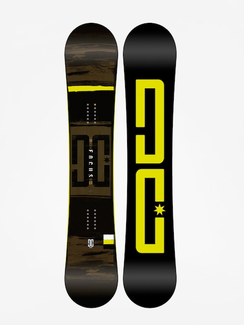 Snowboard DC Focus (black/lime)
